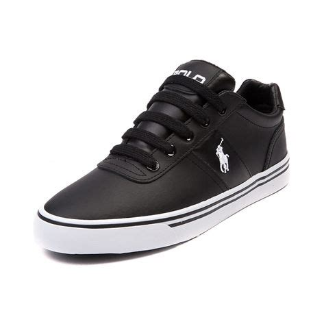 shop for mens hanford casual shoe by polo ralph in black white leather at journeys shoes