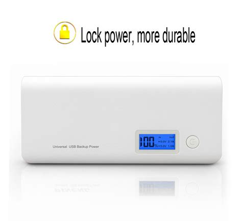 Power Bank Samsung 98 000mah power bank 20 000mah dual usb lcd display grey white