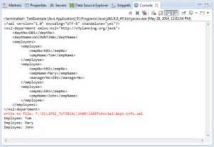jaxb tutorial reading xml file java architecture for xml binding jaxb tutorial