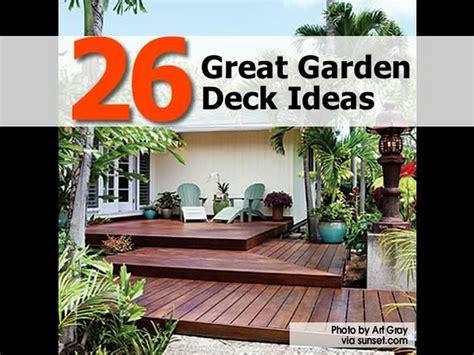 Great Patio Designs 26 Great Garden Deck Ideas