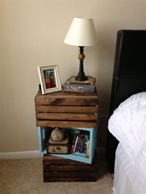 Wooden Crate Nightstand Pin By Nolan Denbo On My Room