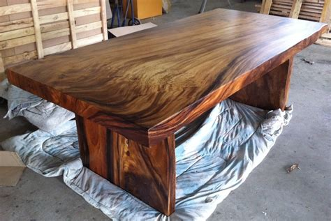 Dining Table Wood Live Edge Dining Table Reclaimed Solid Slab Acacia Wood