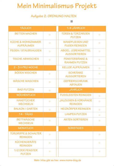 Haushaltsplan Vorlage Putzen by Die Besten 25 Putzplan Ideen Auf