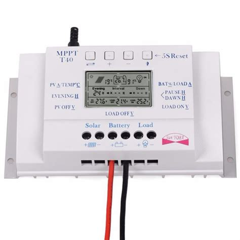 Mppt Solar Charged Controller Scc Makeskyblue 40a 12v 24v 36v 48v t40 40a mppt solar charge controller regulator 12v 24v auto lcd display controller with load