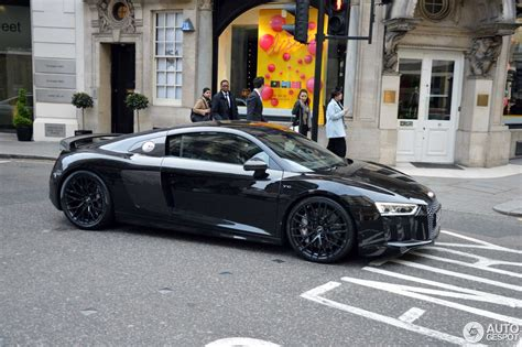Audi R8 Schwarz by Audi R8 V10 Plus 2015 28 May 2016 Autogespot