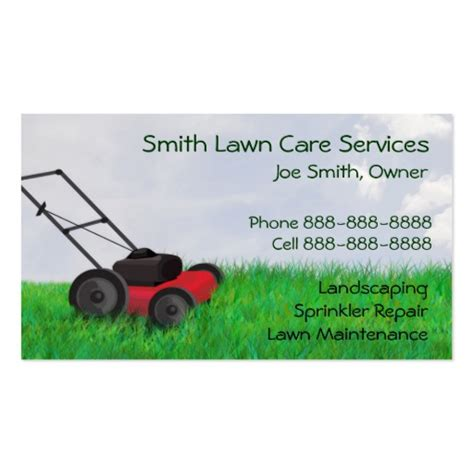 lawn service business card template lawn mower business card templates bizcardstudio