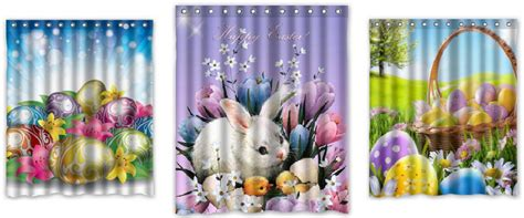 Guest Bathroom Decor Shower Curtains For Easter Decor Eggciting Easter