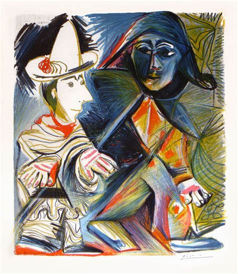picasso paintings clowns picasso le clown et l harlequin the clown and the