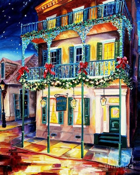 lafitte guest house lafitte guest house at christmas painting by diane millsap