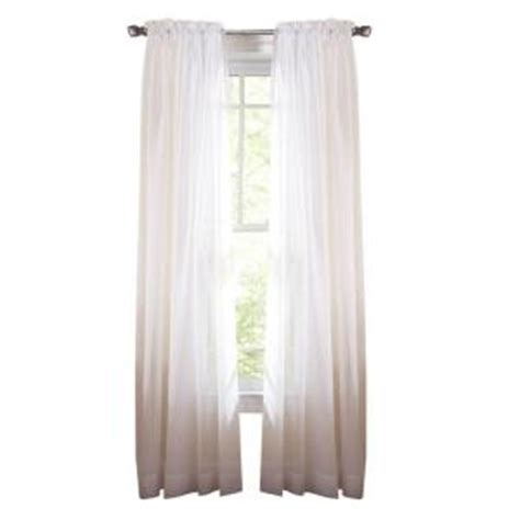 home depot curtains martha stewart martha stewart living pure white fine sheer rod pocket