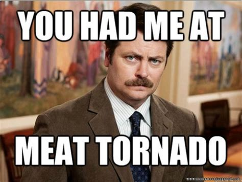 Meat Memes - ron swanson quotes and memes of a meat eating man high