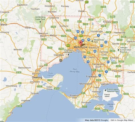 map of greater the greater melbourne map world easy guides