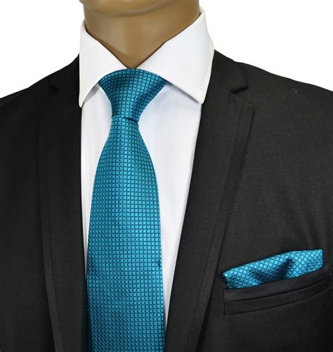 turquoise silk tie and pocket square paul malone