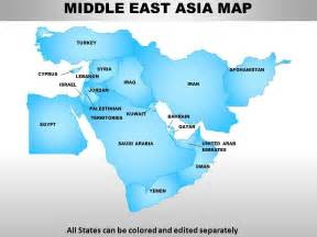 middle east asia continents powerpoint maps powerpoint