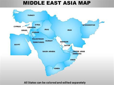 middle east map for powerpoint middle east asia continents powerpoint maps powerpoint