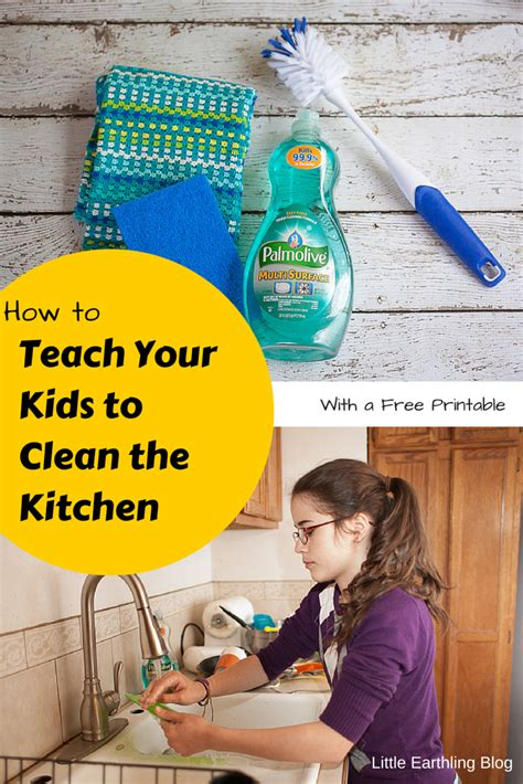 how to clean the kitchen how to teach your kids to clean the kitchen