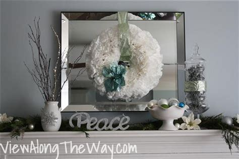 how to decorate a christmas mantle with silver blue and green