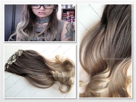 ash blonde hair extensions ash blonde ombre hair ombre clip in hair extensions by