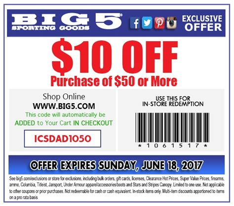 Big 5 Coupon Printable 2018 big 5 coupon store checkers coupons november 2018