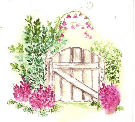 drawing of garden art impressions wc garden gate cards pinterest