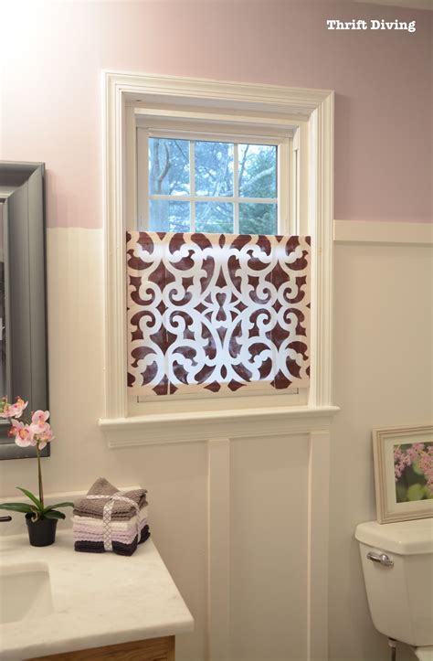 bathroom window privacy ideas how to make a pretty diy window privacy screen thrift