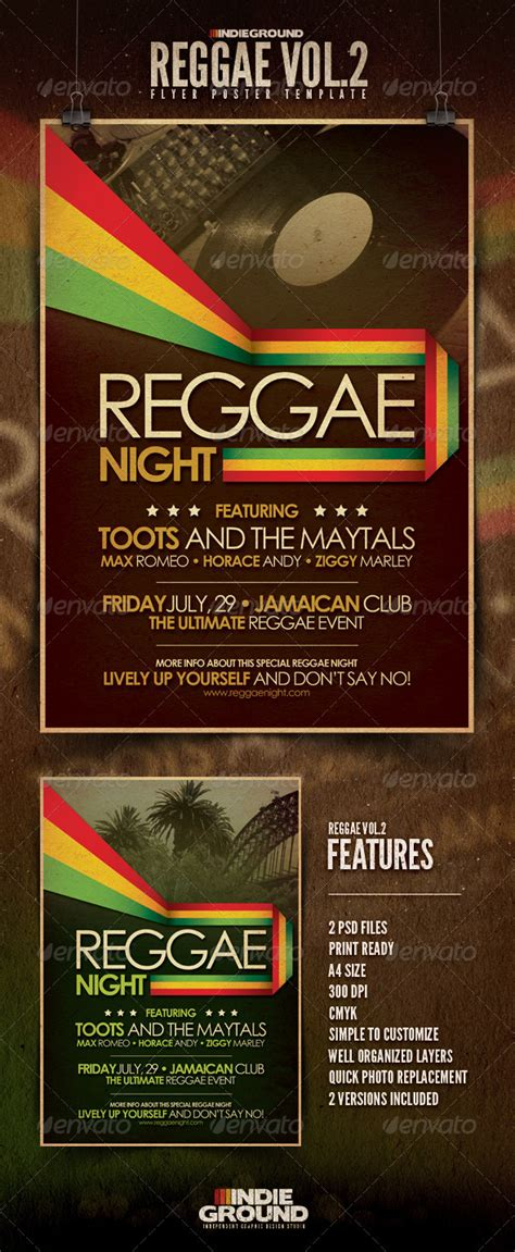 template flyer reggae reggae flyer poster vol 2 graphicriver