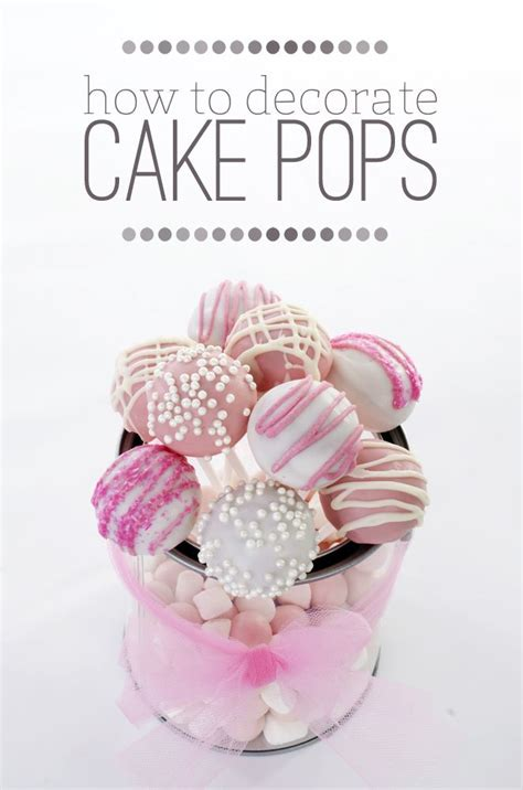 Cake Pops Decoration by Excellent Tips In Decorating Cake Pops