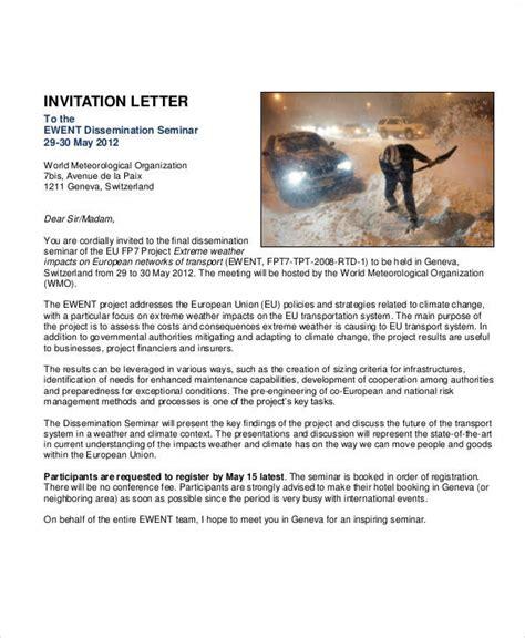 business seminar invitation template 37 sle business letters in pdf