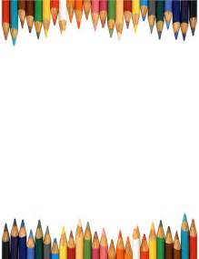 border bottom color colored pencils clipart free large images