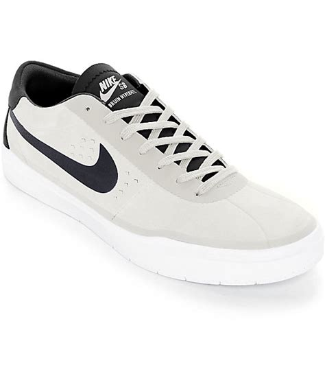 nike sb bruin hyperfeel summit white black skate shoes