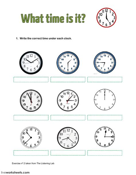 what time is it interactive worksheet