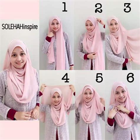 tutorial hijab labuh 10 cara mudah pakai shawl tutup dada tutorial shawl