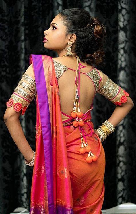 latest silk saree blouse designs catalogue  saree
