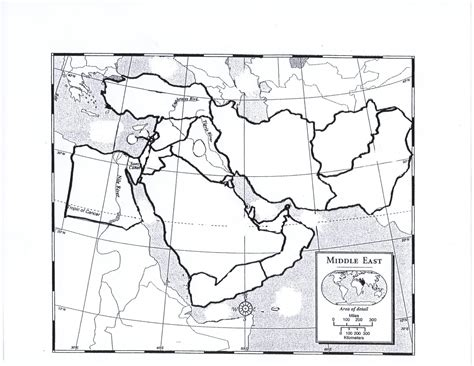 middle east map blank printable prodigyhistory geography
