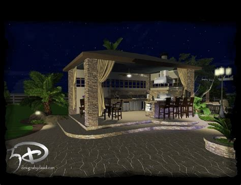 backyard cabana ideas cabanas outdoor kitchens 3d designs by david