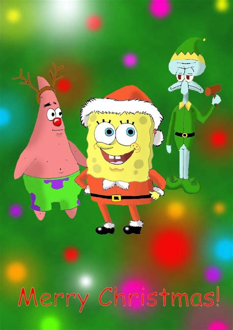 a spongebob christmas by pickles0629 on deviantart