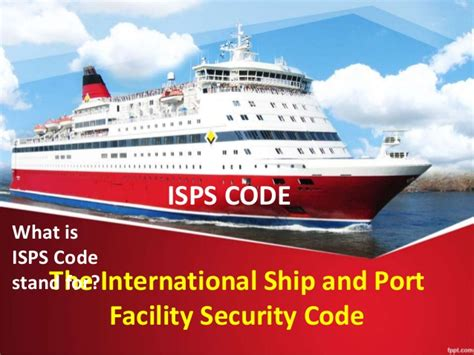 international ship and security isps code