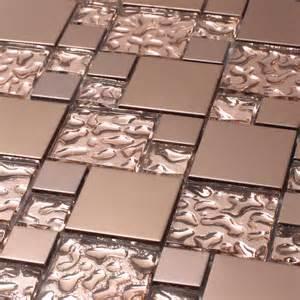 Aluminum Backsplash Kitchen venetian series copper goddess venetian series glass