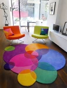 colorful circle rugs bubbles contemporary modern area rugs by sonya winner