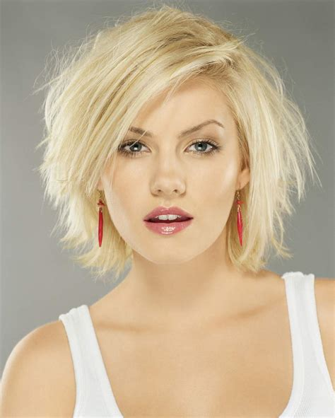 chin length blonde haircuts chin length hairstyles for thick hair women styles
