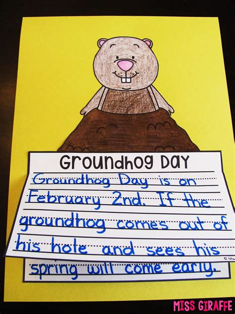 groundhog day writer miss giraffe s class february writing prompts