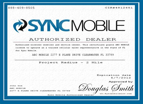 authorized dealer certificate how to open a cell phone store authorized dealer