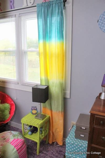 Diy Tie Dye Curtains The Country Chic Cottage