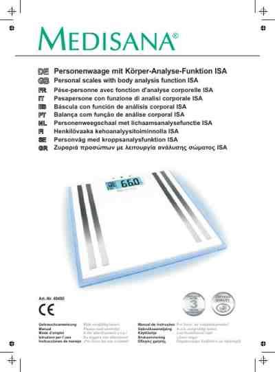 Analysis Scale Isa medisana isa personal weighing scale manual for free now 32a23 u manual