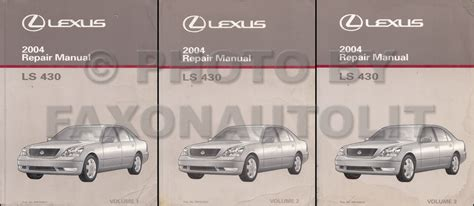 car repair manuals online pdf 2004 lexus ls interior lighting service manual 2004 lexus ls free repair manual lexus ls430 2001 2006 repair manual auto