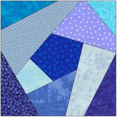 paper pattern blocks all stitches crazy quilt paper piecing quilt block