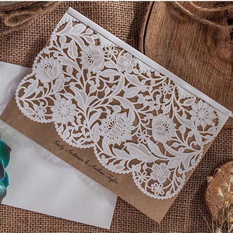 Hochzeitseinladung Zum Rausziehen by 1pcs Sle Vintage Wedding Invitations Card Laser