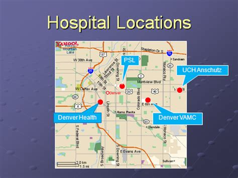 of colorado hospital map map of medicine residency