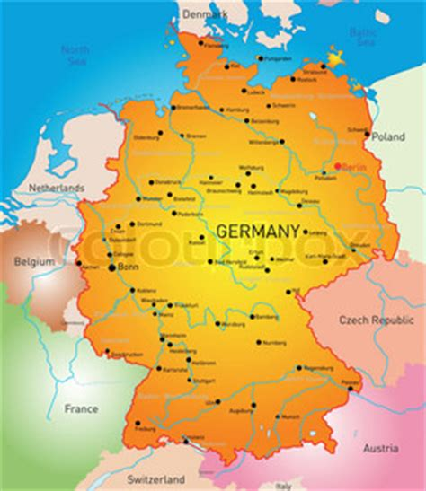 germany country map vector detailed map of germany country vector colourbox