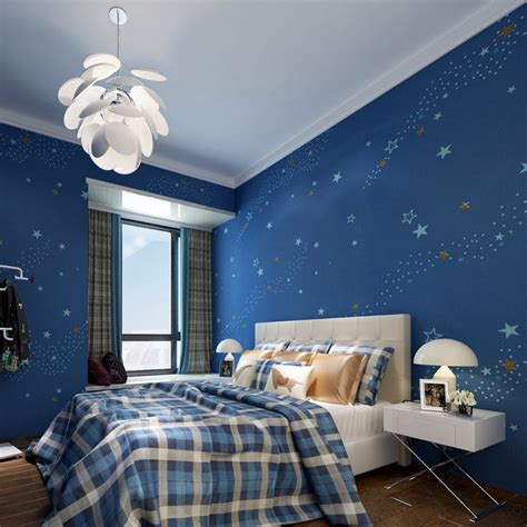 wallpaper for kids bedrooms aliexpress com buy starry night kids bedroom wallpaper